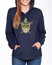 Load image into Gallery viewer, Item RR-SOC-314-1 - Next Level Adult PCH Pullover Hoodie - River Ridge Lady KNIGHTS Soccer Logo
