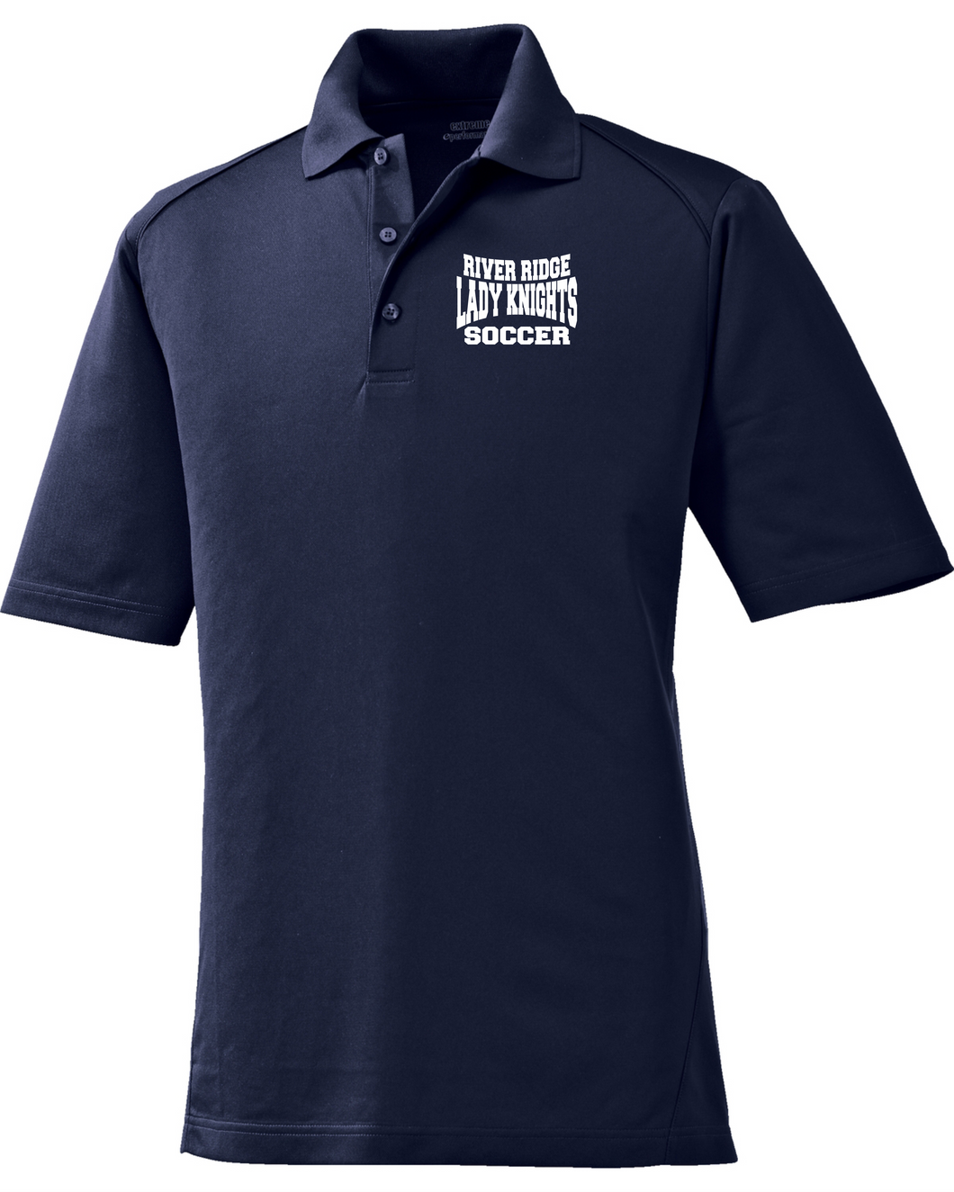 Item RR-SOC-506-2 - Ash City - Extreme Performance™ Shield Snag Protection Short-Sleeve Polo - RR KNIGHTS Soccer Logo
