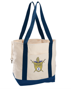 Item RR-SOC-961-1 econscious 12 oz. Organic Cotton Canvas Boat Tote Bag - RR Lady KNIGHTS Soccer Logo