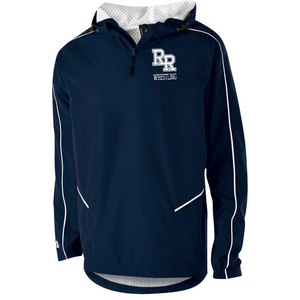 Item RR-WW-405 - Holloway Wizard Pullover Jacket - Front RR Wrestling Logo and Back - River Ridge Wrestling