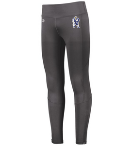 Item RR-WW-707B Holloway Ladies High Rise Tech Tights - RR Wrestle Man Logo