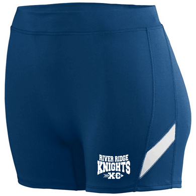 Item RR-XC-701-1 - Augusta Ladies Stride Shorts - River Ridge KNIGHTS XC Logo