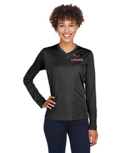 "Load image into Gallery viewer, Item CHS-LAX-651 - Team 365 Zone Performance Long-Sleeve T-Shirt - Cherokee ""C"" Logo"