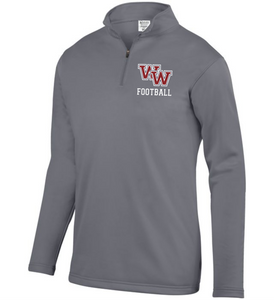 Item WW-FB-102-2 - Augusta 1/4 Zip Wicking Fleece Pullover -WW Football Logo