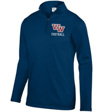 Load image into Gallery viewer, Item WW-FB-102-2 - Augusta 1/4 Zip Wicking Fleece Pullover -WW Football Logo