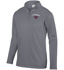 Item WW-FB-102-5 - Augusta 1/4 Zip Wicking Fleece Pullover - Football Laces Logo