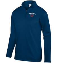 Load image into Gallery viewer, Item WW-FB-102-5 - Augusta 1/4 Zip Wicking Fleece Pullover - Football Laces Logo