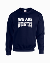 Load image into Gallery viewer, Item WW-FB-304-03 - Gildan Adult 8 oz., 50/50 Fleece Crew - We Are Woodstock Logo