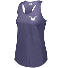 Load image into Gallery viewer, Item WW-FB-521-9 - Augusta Ladies Lux Tri-Blend Tank - Laces & Wolverine Back Logo