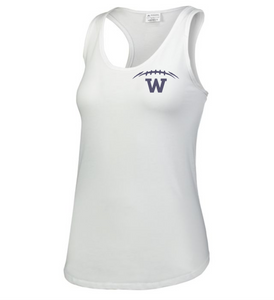 Item WW-FB-521-9 - Augusta Ladies Lux Tri-Blend Tank - Laces & Wolverine Back Logo