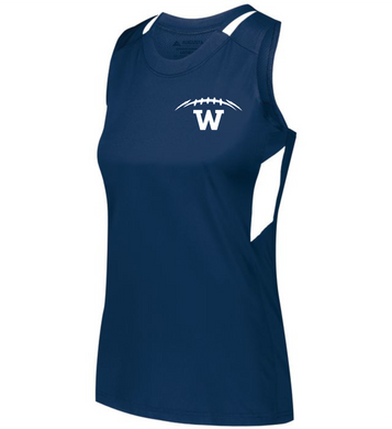 Item WW-FB-522-9 - Augusta Ladies Crossover Tank - Laces & Wolverine Back Logo