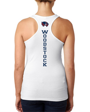 Load image into Gallery viewer, Item WW-FB-524-9 - Next Level Ladies' Spandex Jersey Racerback Tank - Laces & Wolverine Back Logo