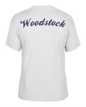 Load image into Gallery viewer, Item WW-FB-532-10 - Gildan Adult 5.5 oz., 50/50 T-Shirt - Laces Wolverine & Woodstock Script Logo