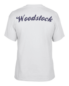 Item WW-FB-532-10 - Gildan Adult 5.5 oz., 50/50 T-Shirt - Laces Wolverine & Woodstock Script Logo