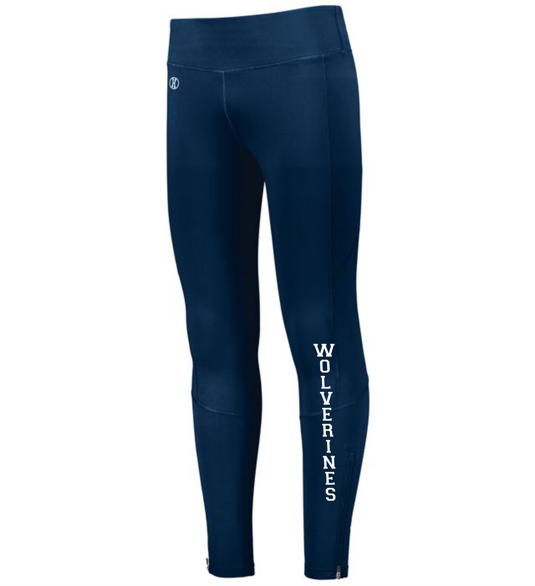 Item WW-FB-722 - Holloway Ladies High Rise Tech Tight - Wolverines Logo