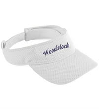 Load image into Gallery viewer, Item WW-FB-904-10 - Augusta Athletic Mesh Visor - Woodstock Script Logo