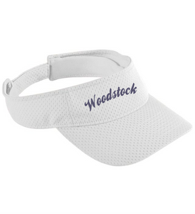 Item WW-FB-904-10 - Augusta Athletic Mesh Visor - Woodstock Script Logo