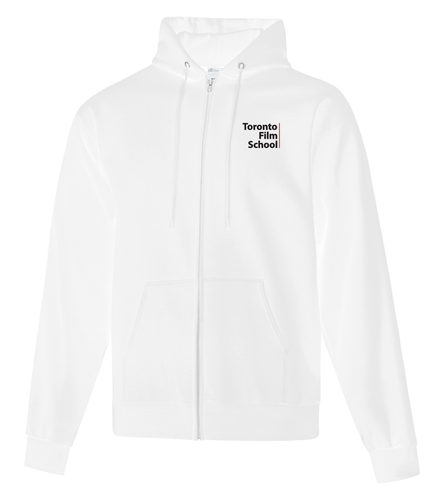 TFS WHITE GILDAN® HEAVY BLEND™ FULL ZIP HOODED SWEATSHIRT