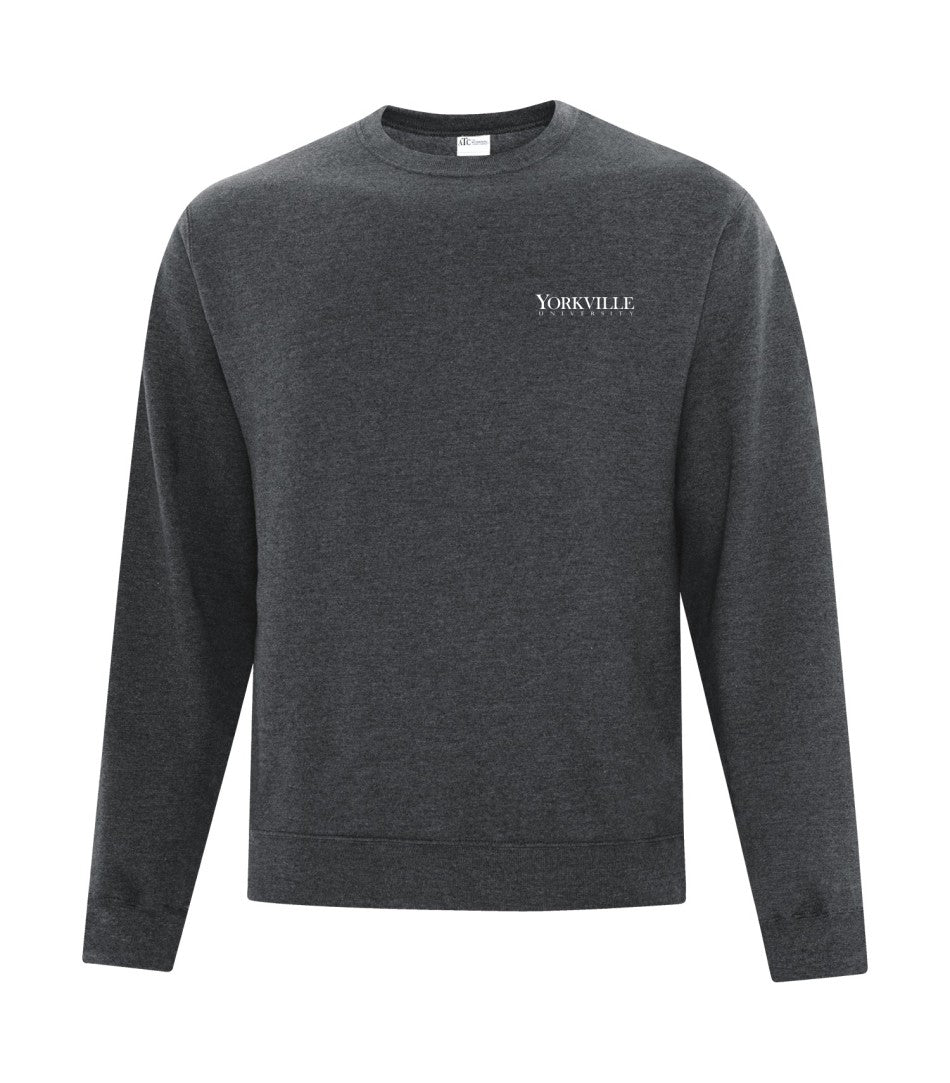 YU DARK HEATHER GREY ATC™ EVERYDAY FLEECE CREWNECK SWEATSHIRT