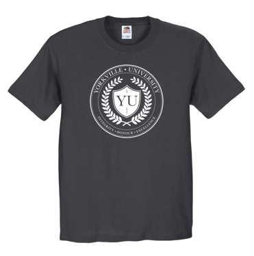 YU SEAL CHARCOAL FRUIT OF THE LOOM® HD COTTON™ 100% COTTON T-SHIRT