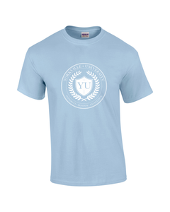YU LIGHT BLUE GUILDAN ADULT ULTRA COTTON TEE