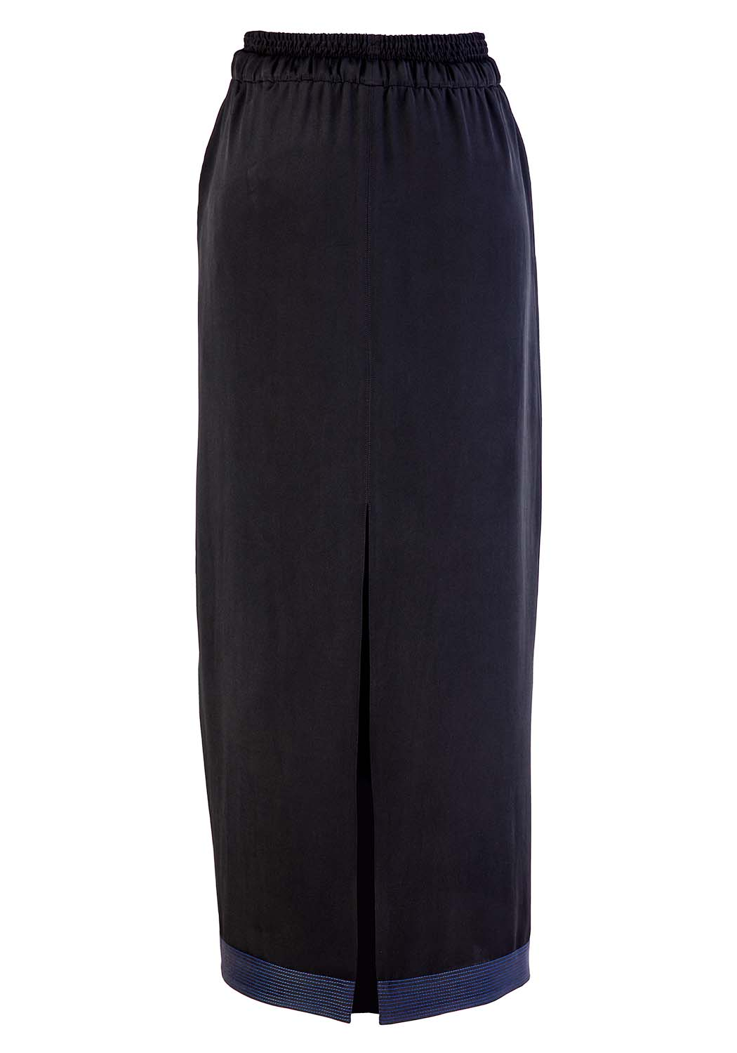 Silk Slit Skirt