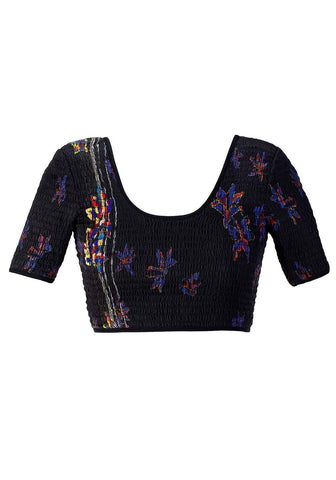 Flower Embroidered Cropped Top