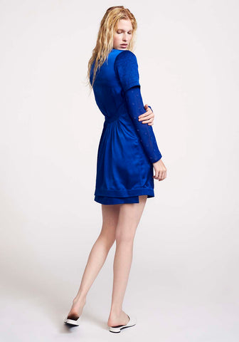 Silk Blue Dress