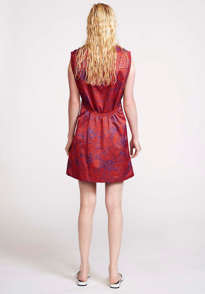 Hand Embroidered Red Dress