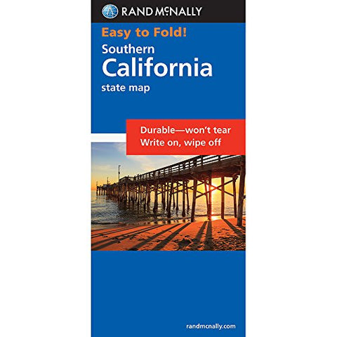 Rand McNally Easy to Fold: Southern California (Laminated) (Rand McNally Easyfinder)