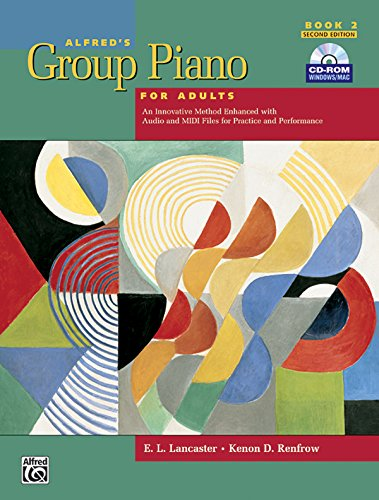 Alfred's Group Piano for Adults: Student Book 2, 2nd Edition (Book & CD-ROM)