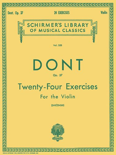 24 Exercises, Op 37: Violin Method (Schirmer's Library of Musical Classics)