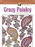 Creative Haven Crazy Paisley Coloring Book (Adult Coloring)