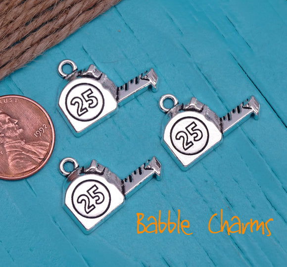 12 pc tape measure charm . stainless steel charm ,very high quality.Perfect for jewery making and other DIY projects
