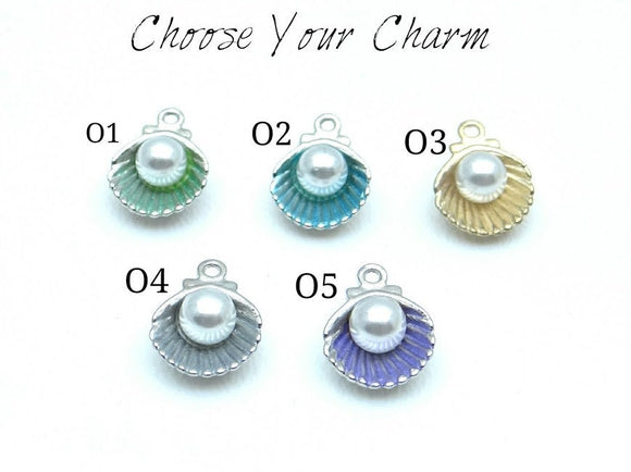 Colorful Seashell charm
