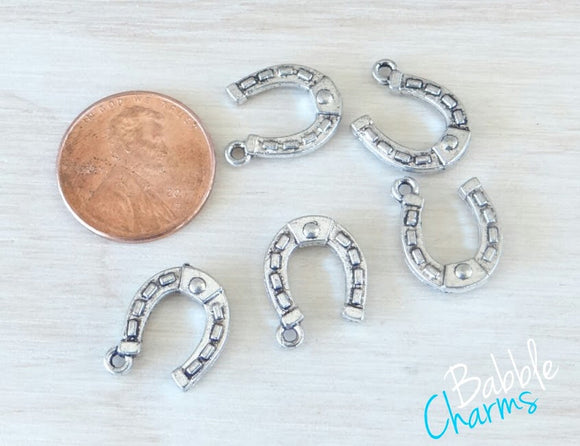 12 pc Horse shoe Charm, Cowgirl horseshoe Charm, Charms, Good Luck charm