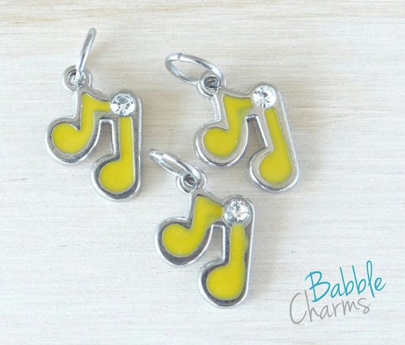 12 pc Music note Charm, music note, Charms, wholesale charm, bronze charm
