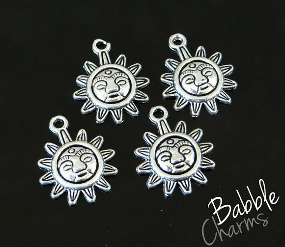 12 pc Sun Charm, sun, sunshine, Charms, wholesale charm, bronze charm