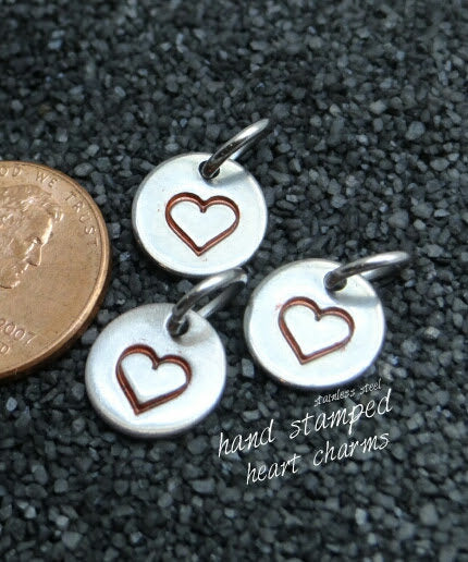Heart charm, stamped heart charm, steel charm 10mm very high quality..Perfect for jewery making and other DIY projects