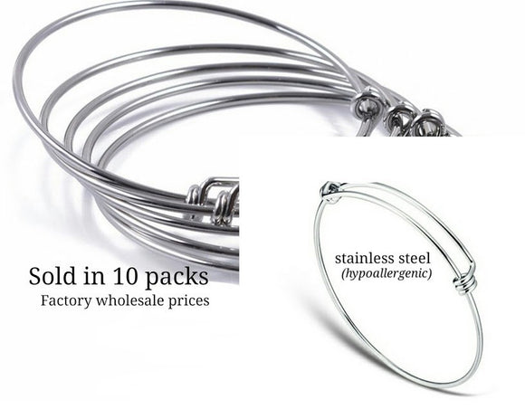 Stainless steel adjustable bracelet 65mm very high quality..Perfect for jewery making and other DIY projects