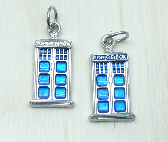 Police Box Charm, phone booth, Charms, wholesale charm, phone booth charm, dr who