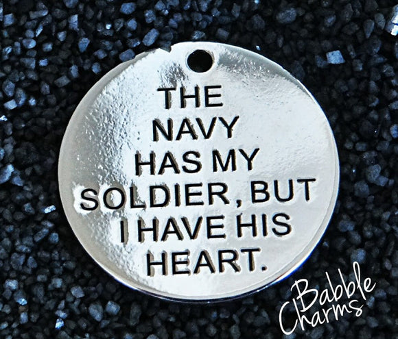 The Navy has my soldier charm, Alloy charm 20mm very high quality..Perfect for jewery making and other DIY projects #155