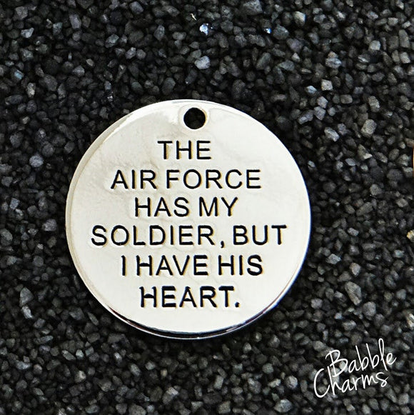 The Air Force has my soldier charm, Alloy charm 20mm very high quality..Perfect for jewery making and other DIY projects #171