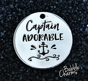 Captain Adorable, captain charm, nautical, Alloy charm 20mm very high quality..Perfect for jewery making and other DIY projects #30