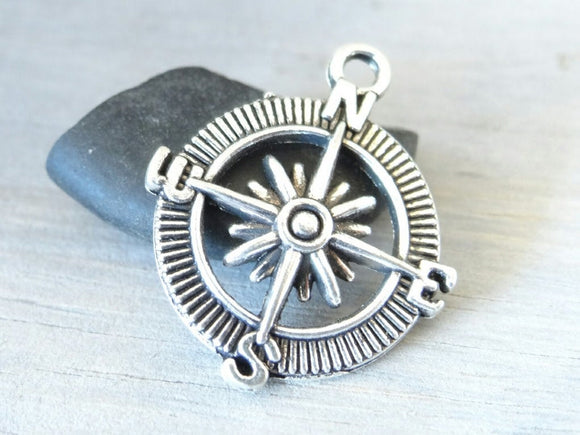 12 pc Compass Charm, compass, Charms, wholesale charm, alloy charm