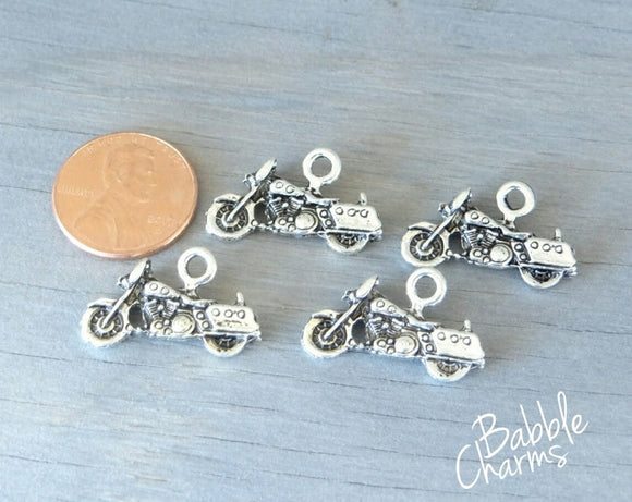 Motorcycle charm, motorcycle, Charms, wholesale charm, alloy charm