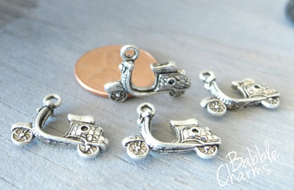 12 pc Scooter charm, motor scooter, moped, Charms, wholesale charm, alloy charm