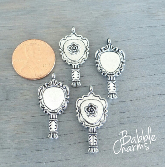 12 pc Mirror  charm, mirror, beast and belle, Charms, wholesale charm, alloy charm