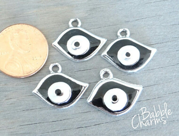 12 pc Eye charm, eye, eye ball, Charms, wholesale charm, alloy charm