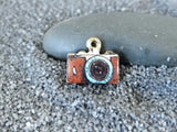 12 pc Camera charm , camera, brown camera charm, enamel charm, Charm, Charms, wholesale charm, alloy charm